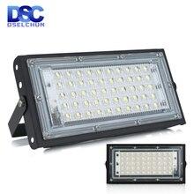 50W Led światło halogenowe AC 220V 230V 240V zewnętrzny projektor oświetleniowy reflektor IP65 wodoodporna LED lampa uliczna oświetlenie krajobrazu