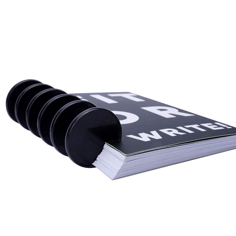 Oversized Black Binding Discs 53mm Loose-leaf Binding Buttons Plastic Ring Disc Circa Roll Mushroom Hole Notebook Binder Buckle