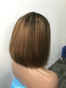 Image 3 - 13X4 Ombre 1B30 Colored Straight Bob Lace Front Wig For Women Lace Frontal Wig Pre Plucked With Baby Hair Cara Remy