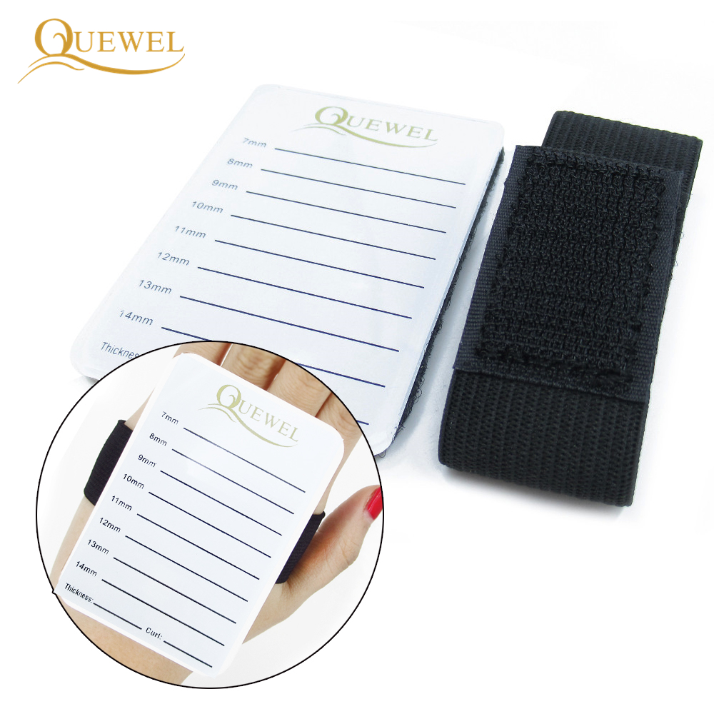 Acrylic Lash Small Pallet Eyelash Extensions Lashes Tile Palette With Belt Adhesive Glue Quewel Holder Eyelashes Extensions Tool