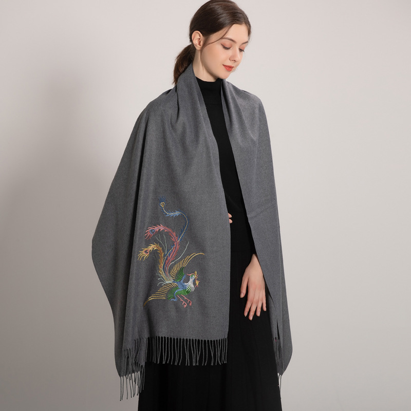 Tassel Beach Shawl Solid color brushed wraps Knitted pullover scarf women Lace Embroidery Scarf Shawl накидка женская