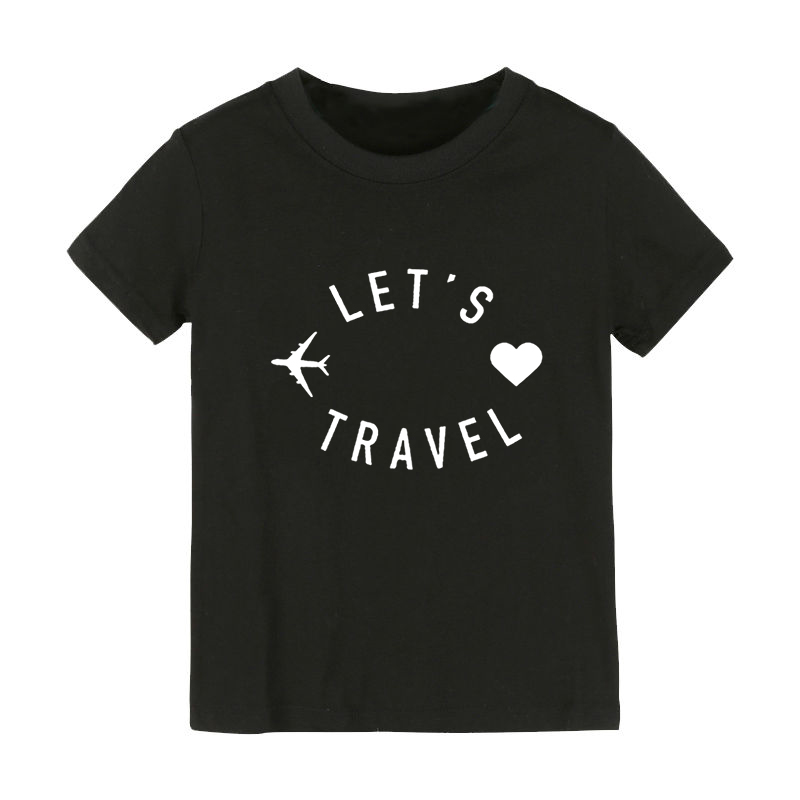 let's travel Print Kids tshirt Boy Girl shirt Children Toddler Clothes Funny Street Top Tees CZ-165 image