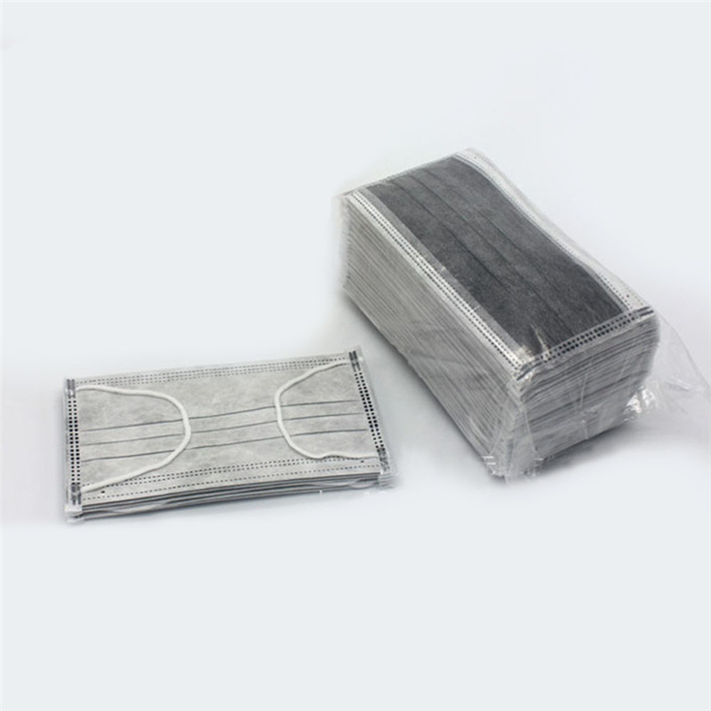 Disposable 4 Layers Non-Woven Dustproof Mouth Mask Activated Carbon Filter