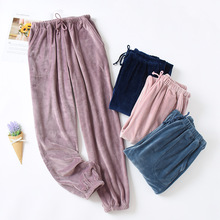 Pajamas Women Pants Closed-Trousers Fleece Warm New Autumn Winter And Island Thickening