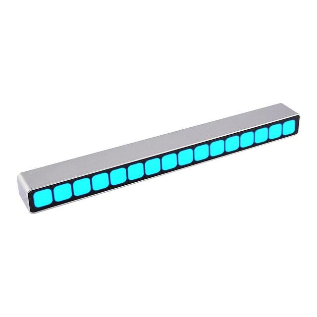 16 רמת שליטת קול רמת חיווי כחול LED מונו VU מטר אודיו מוסיקה ספקטרום לוח AGC עבור MP3 רמקול מגברי DIY