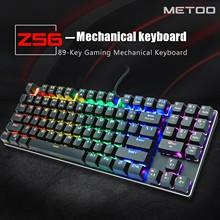 Z56 klawiatura mechaniczna przewodowa podświetlana klawiatura 89 klawiszy do gier Laptop Pc przezroczyste znaki klawisze z klawiszami numpad tanie tanio CARPRIE Pulpit Numer NONE english CN (pochodzenie) 87 klawiszy PRZEWODOWY Mechaniczne GAMING