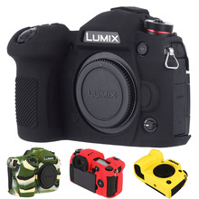 For LUMIX G9 Silicone Cover For Panasonic LUMIX G9 Digital Camera Cover Litchi Texture Surface Skin Silicone Camera Protector