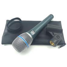 Beta87 micrófono de mano Legendary Vocal Dynamic Beta 87, micrófono de Karaoke que habla sm 57 58 Beta58 E945 E845, micrófonos para conferencias