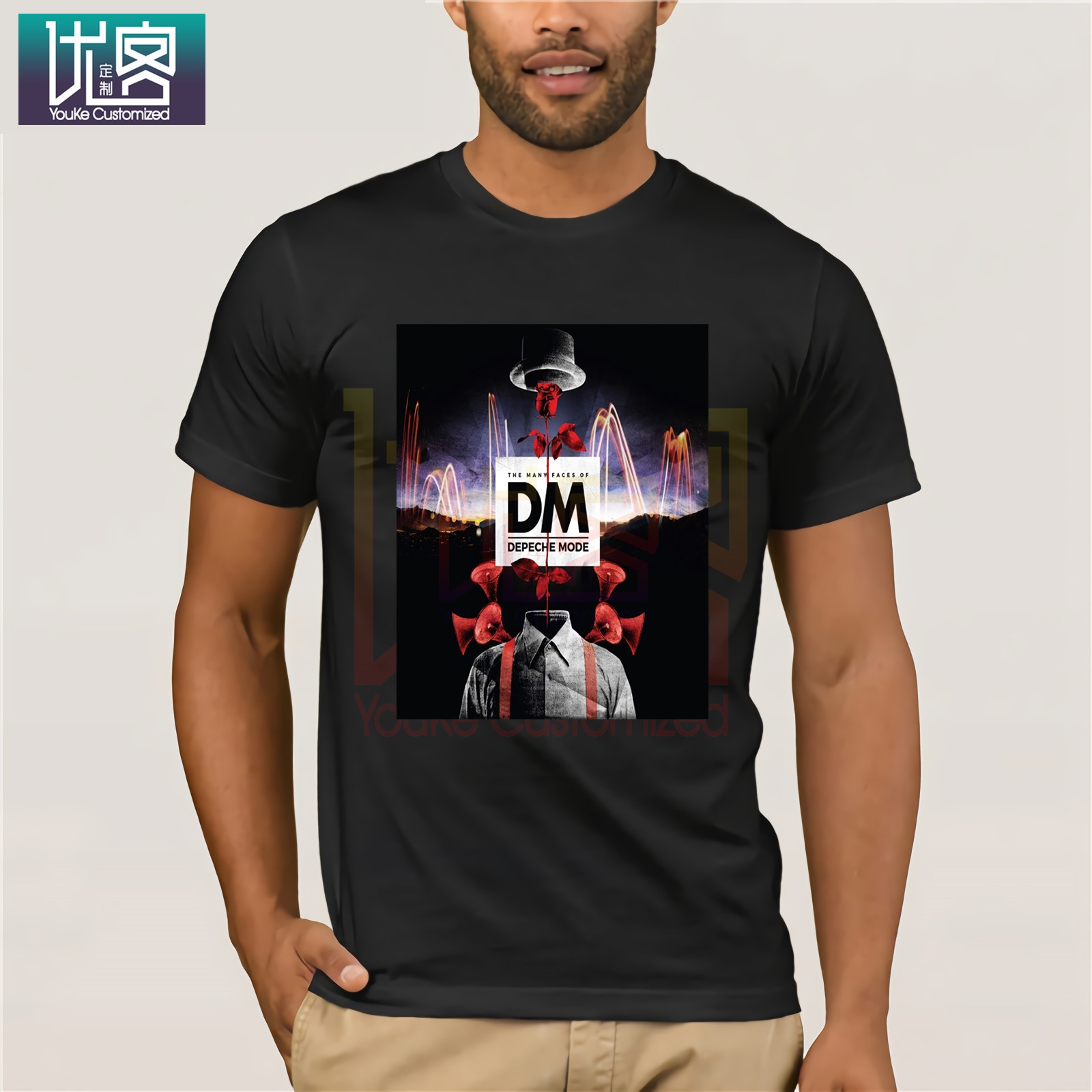 Many Faces Of Depeche Shirt Mode Amazing Short Sleeve Unique Funny Tees Cotton Tops T Shirt Funny Tees Cotton Tops T Shirt