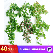 Hanging-Plants Fake-Leaves Wedding Greeny Outside-Decoration Artificial Garland Vine