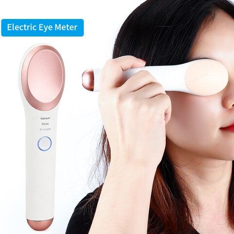 medidor de olho eletrico massageador olho quente e frio vibracao massageador olho levantamento circulos escuros