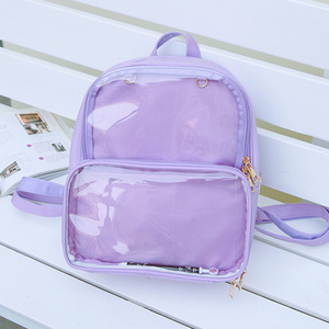 Image 3 - New Women Backpacks Transparent Backpacks Student Bags Candy Clear Backpacks Fashion Ita Bags for Girls Cute Student Bags