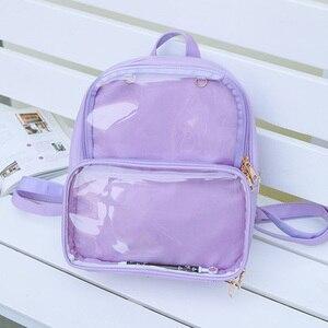 Image 3 - Novas mochilas femininas mochilas transparentes sacos de estudante doces claro mochilas moda ita sacos para meninas bonito estudante sacos
