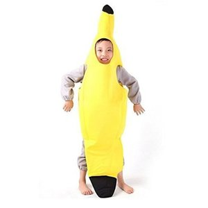 Novelty Men Women Adult Children Carnival Funny Character Party Bar Stage Banana Costume Dance Suit Top Fantasia Clothing(China)