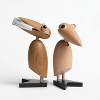 Woodpecker ornaments Denmark Woody creative office desktop name card clip hand puppet animal furnishings jewelry gift
