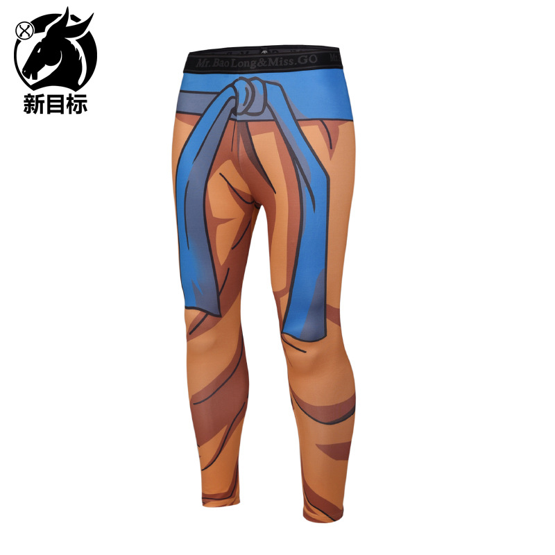 Men's Trousers Cross Border 2019 Spring New Style Leggings Cartoon Digital 3D Printed Fitness Pants Sports Elasticity Leggings