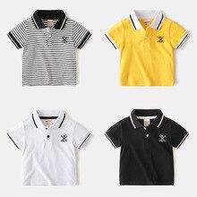 boys stripe Baby Summert-shirt Soft Cotton Kids Boys Sprots Shorts Sleeve Stripe Shirts Tops Baby Boy Shirt Lapel Tee 2020 New Boys Clothes