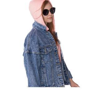 повседневная женская джинсовая Базовая куртка с отворотами и карманами Женское пальто светло-голубая верхняя одежда  большие размеры