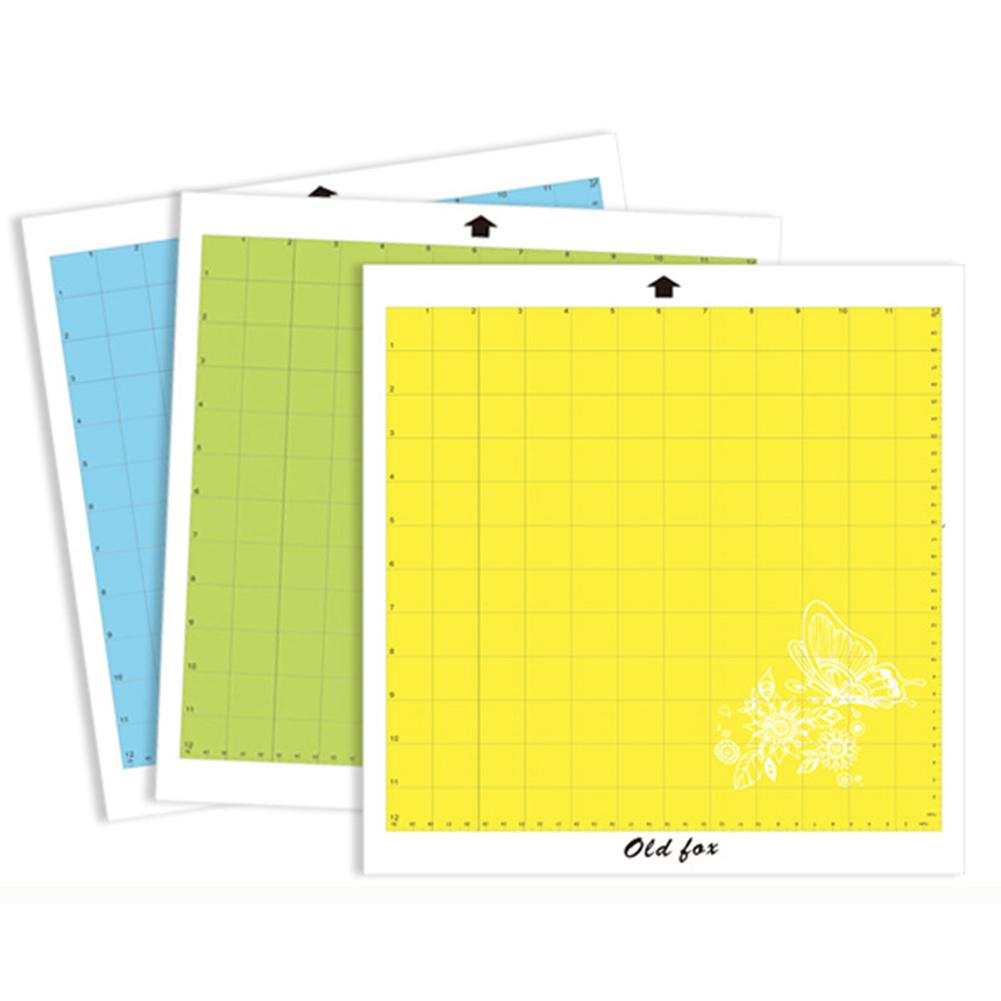 1pcs Replacement Cutting Mat Transparent Adhesive Mat Pad With Measuring Grid 12 By 12-Inch For Silhouette Cameo Plotter Machine