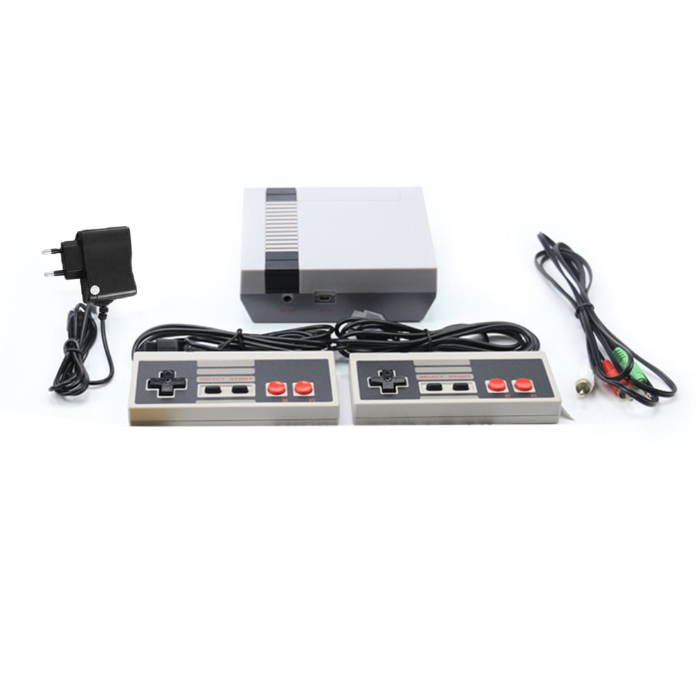 Retro Video Game Console FC Mini Game Consoles Built-in 620 TV Video Games with Double Controllers for Children