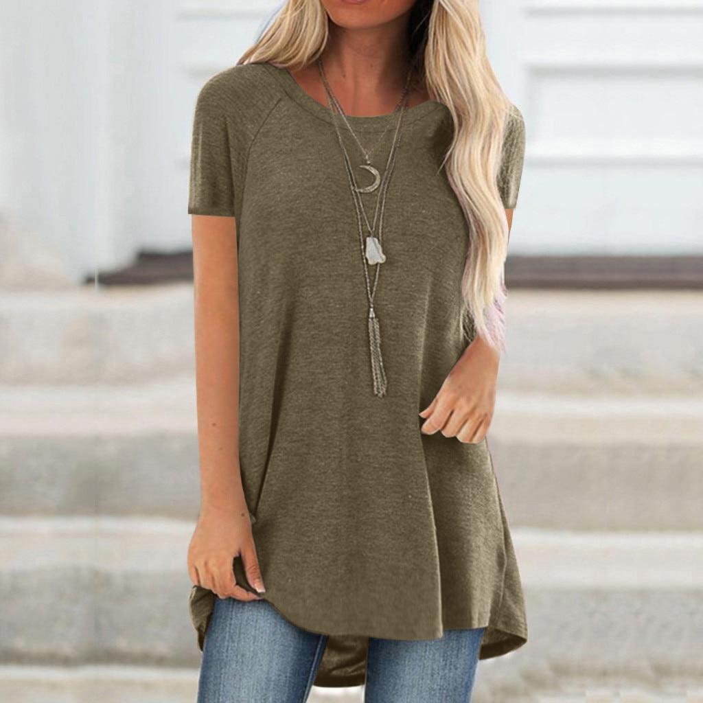 Женская обувь на каждый день футболка летние женские футболки с О-образным вырезом Футболка Большой размер, Размеры, футболка с короткими р...