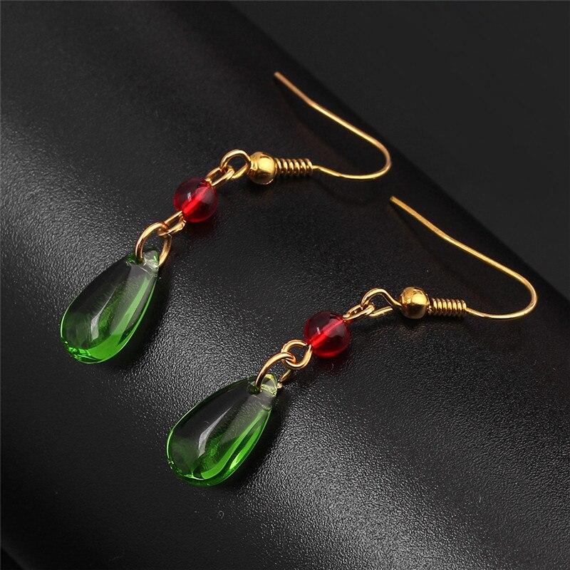 2020 Fashion Elegant Crystal Earrings For Women Hayao Miyazaki Howl's Moving Castle Earrings Red Beads Christmas Jewelry Gift