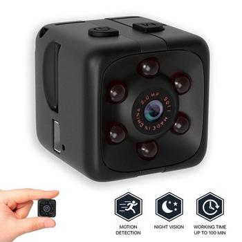 960P SQ11 Mini Camera Sence Car DVR Home Security Camcorder Night Vision Sports Small Camera DVR Recording Support TF Card image
