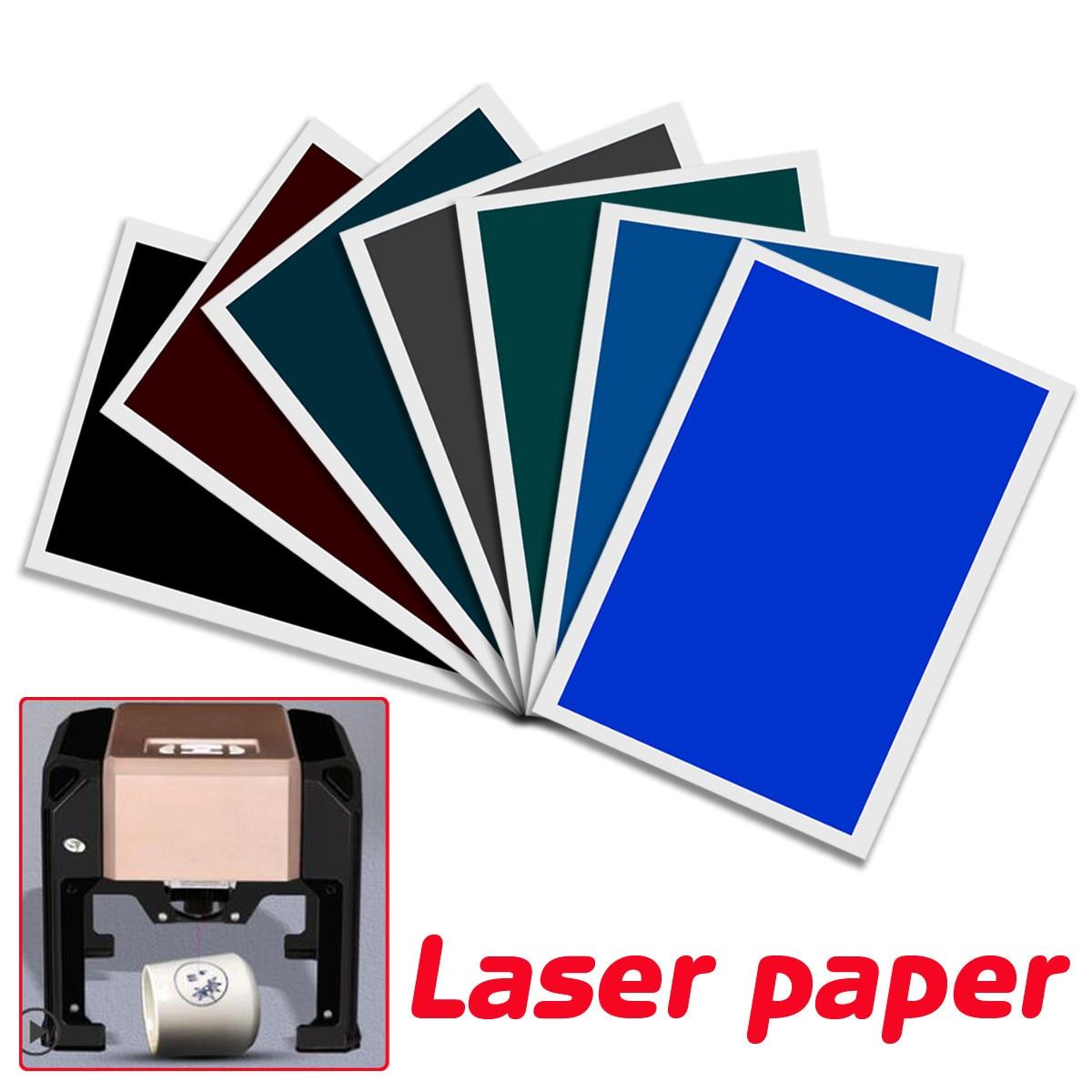 39CM*27CM Black/Gray/Blue/Green/Brown/Blue/Navy Ceramic Laser Paper For CNC Laser Engraving MachineLogo Mark Printer Cutter