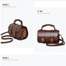 Bag female 2019 new leather handbags Europe and the United States fashion Messenger Boston bag retro shoulder portable pillow ba(China)