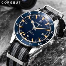 007 Clock Mechanical-Watch Military Corgeut 41mm Automatic Waterproof Luminous Men Luxury