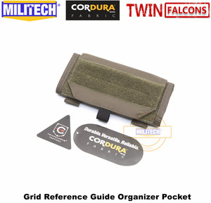 Image 4 - MILITECH TWINFALCONS TW 500D Delustered Cordura Molle 그리드 레퍼런스 가이드 주최자 포켓 좌표지도 Combat Admin Pouch
