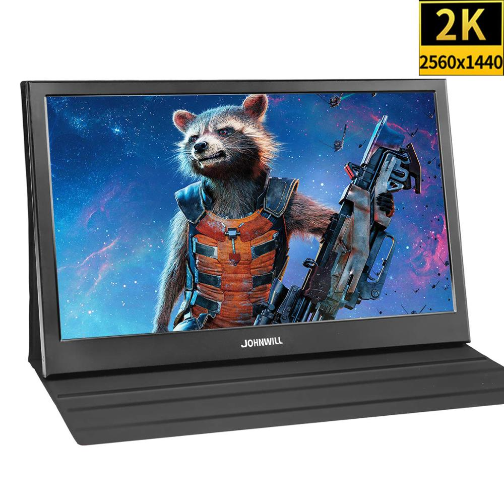 13,3 дюйма 2K 2560x1440 портативный компьютерный монитор ПК HDMI PS3 PS4 Xbo X360 IPS ЖК-светодиодный дисплей для Raspberry Pi Wins 7 8 10 + чехол