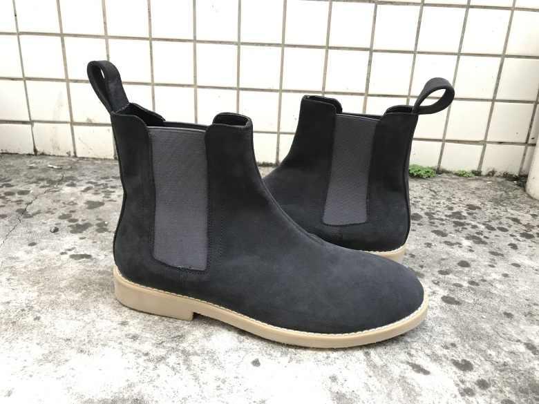 Nieuwe stijl Vintage mannen mannen chelsea laarzen lederen Khaki/Grijs/Bruin/Zwart donkerblauw schoenen Boot