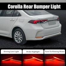 2 sztuk LED reflektor tylnego zderzaka hamulec przeciwmgielny włącz wskaźnik świetlny dla Toyota Corolla Sedan 2019 2020 migające światło tylne stylizacja