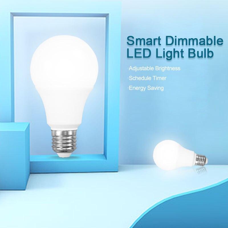 WiFi Smart Bulb 100-245V 806LM E27/E26 Cold/Warm Smart Light Bulb Voice Control Work With Alexa Google Home Smart Home Lamp