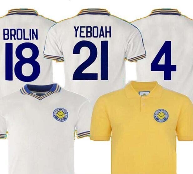 1977 1978 Retro Camiseta De Futbol Leeds ROOFE BAMFORD BROLIN YEBOAH Maillot De Foot Futbol T-shirts Uniform Kits