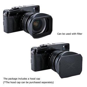 Image 4 - Bajonett Gewidmet Metall Objektiv Haube für Fuji Fujifilm Fujinon Objektiv XF 16mm F 1,4 R WR ersetzt LH XF16 Objektiv haube
