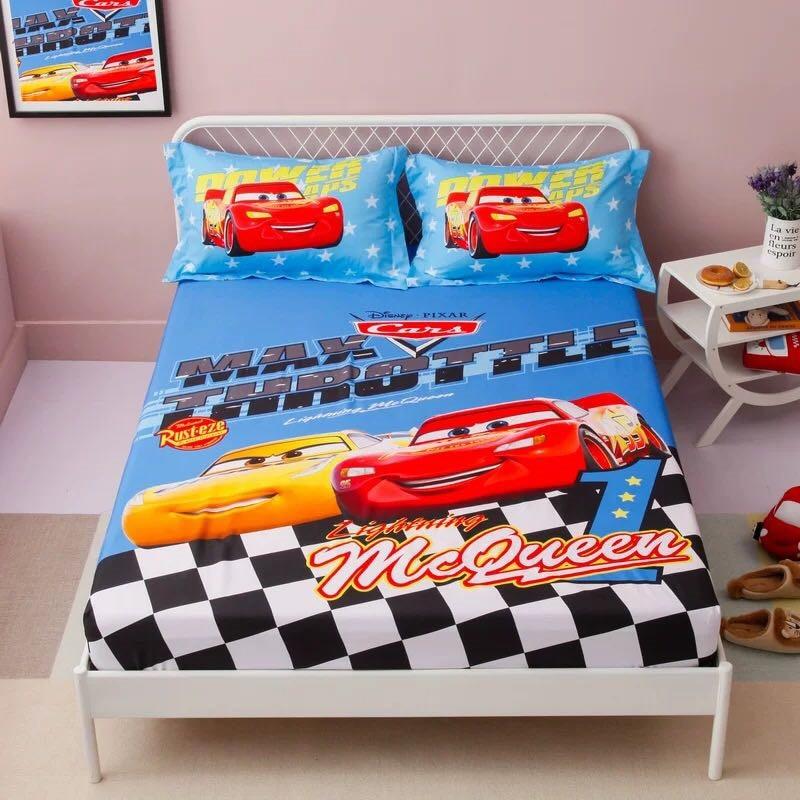 Race Lightning McQueen Cars bedding set size bedroom decor single coverlet 29