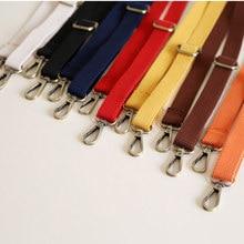 Longue sangle de sac à bandoulière 130cm, sangle fine de remplacement en toile pour sacs de femmes solides, accessoires de sacoche, sangles de poignée