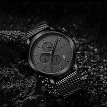 купить Men Casual Sport Watches for Men Black Top Brand Luxury Military Steel Mesh Wrist Watch Man Clock Fashion Chronograph Wristwatch по цене 1627.63 рублей