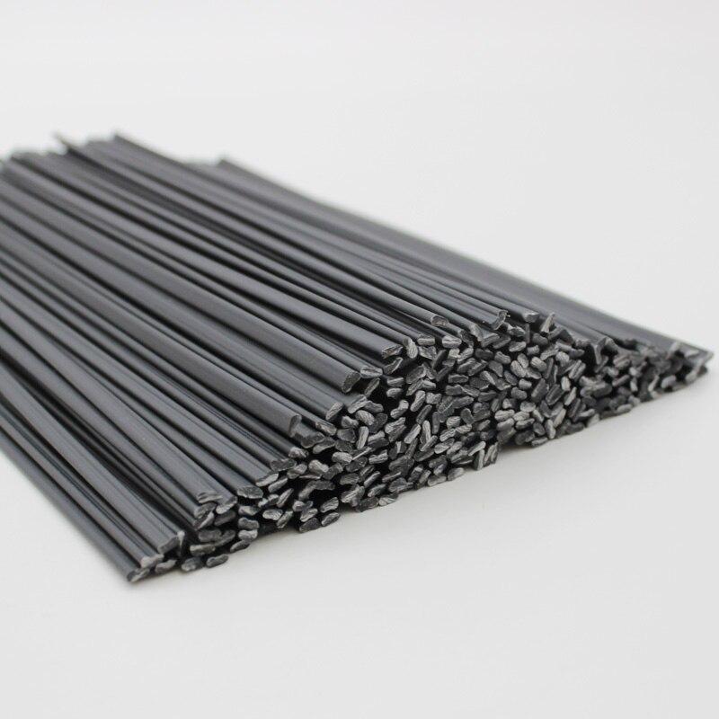 10pcs Black PE Plastic Welding Rods 25cm Long