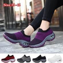 Chaussures de marche pour femmes Mode Décontracté Chaussures de Sport Baskets Automne Plates Plates à enfiler Confortable En Plein Air