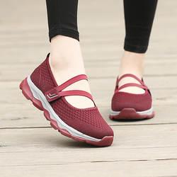 Новинка; стильная женская обувь с перекрестной каймой; сетчатая обувь для пожилых людей среднего возраста; нескользящая повседневная