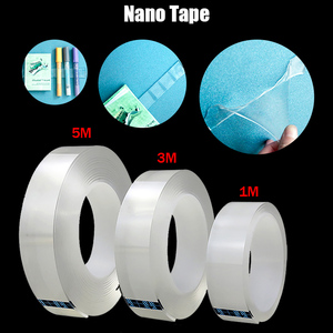 1m/3m/5m Nano Tape Double Sided Tape Washable Reuse Nano Magic Transparent No Trace Waterproof Adhesive Tape cosas de cocina