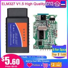 ELM327 V1.5 Bluetooth/Wifi OBD2 scanner v1.5 Elm 327 PIC18F25K80 Auto Diagnostic Tool OBDII for Android/IOS/PC/Tablet PK ICAR2