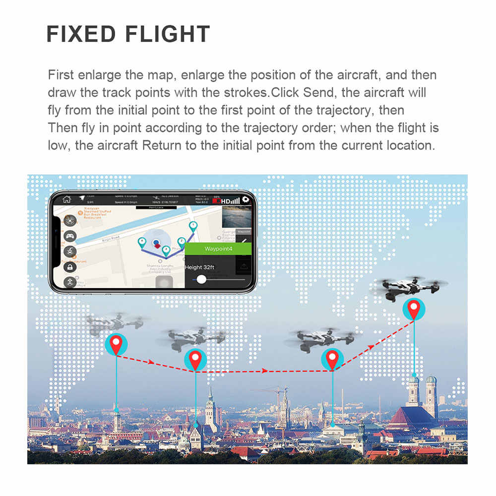 طائرة بدون طيار SG900s مزودة بنظام تحديد المواقع وكاميرا عالية الوضوح طائرة مروحية قابلة للطي بقوة 1080 بكسل طائرة رباعية المراوح تعمل بالواي فاي طائرة FPV طائرة بلا طيار متخصصة لالتقاط الصور السيلفي