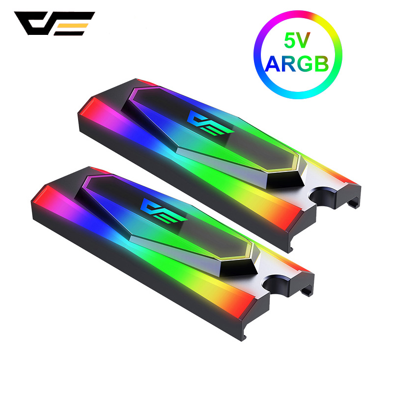 darkFlash M.2 SSD Heatsink ARGB 5V Radiator Aluminum Heat sink Cooling Passive Heat Cooler for PCIE NVME SATA M.2 2280 SSD|Fans & Cooling|   - AliExpress