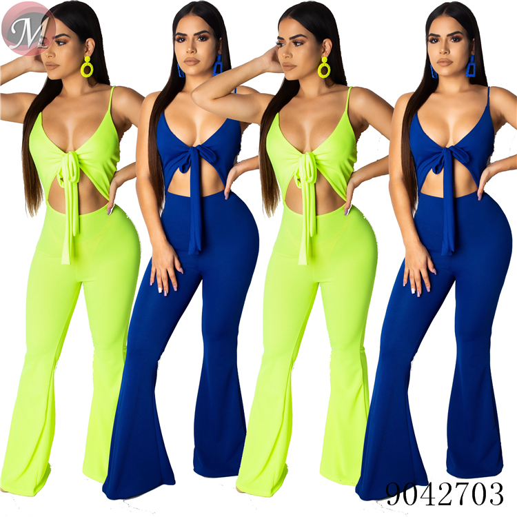 Summer hot sexy band suspenders long pants women   jumpsuits   and women rompers