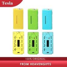 Oryginalny Tesla WYE TC box Mod z 200 W 80 W max ogromna moc obsługuje tryby VW TC TCR nr 18650 bateria do elektronicznego papierosa Mod tanie tanio TESLACIGS Elektryczne Mod 510 Thread Tesla WYE Box MOD