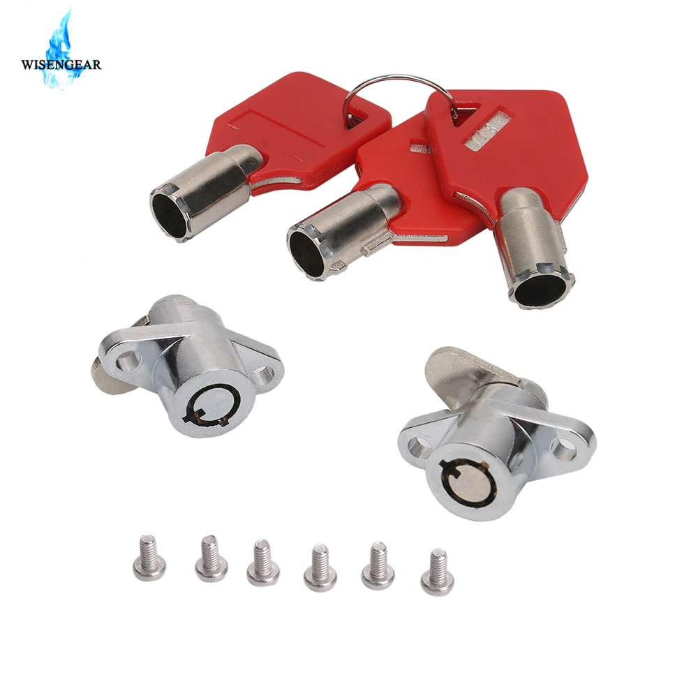 Chrome Steel Hard Saddlebag Lock Set 3 Keys Match 2 Locks For Harley Touring Electra Glide Road King Saddle Bag 1993-2013